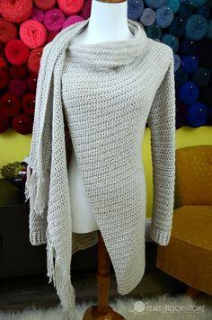 c3204555354a2 Blanket Cardigan crochet pattern for women sizes small - 3xl
