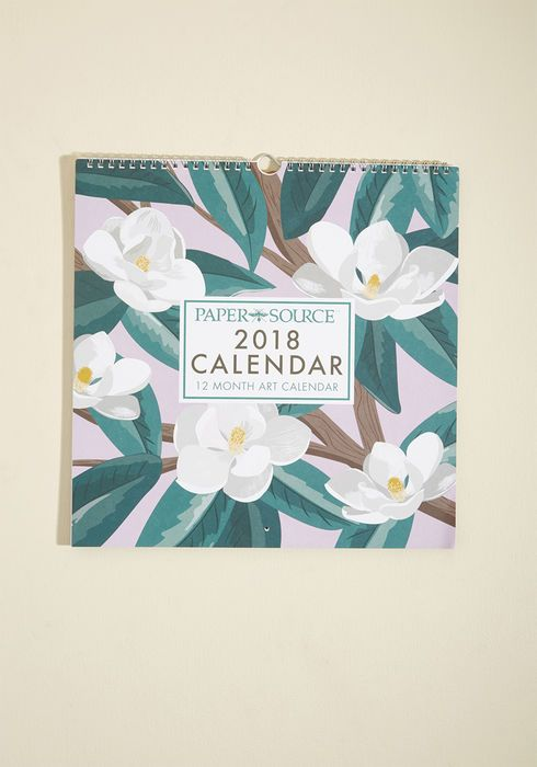 Paper source daily artistry 2018 wall calendar