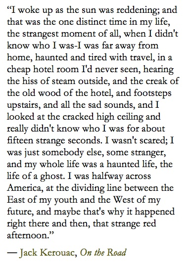 on the road essay jack kerouac On the road - jack kerouac - 1957 introduction on the road by jack kerouac is an autobiographical novel that has come to symbolize the american youth subculture of the 1950s.