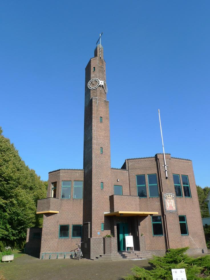 Townhall in Usquert (prov.Groningen), by Berlage, built 1928-'30. Amsterdam school. The Netherlands.