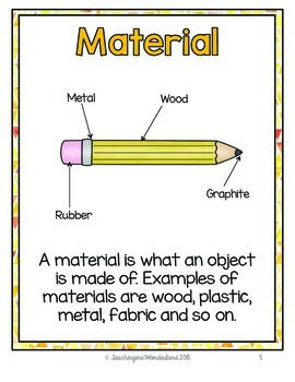 {Grade 1} Materials, Objects, and Everyday Structures