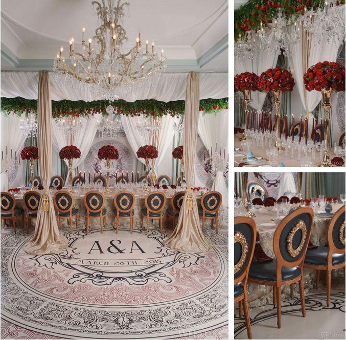 Сватбата на Ана и Алексей - Стилът на тяхната сватба обръща фокуса към романтиката, разкоша и величието през тази отминала епоха. Изобилието от червени рози не само подчертава лукса, но и внушава ароматът, който се носи по време на цялото тържество.