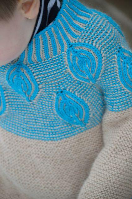 Ravelry: Hugging Leaves brioche jumper pattern by Raina K