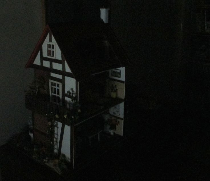 Midsomer cottage in the night