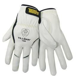Tillman™ TrueFit™ Small Top Grain Kevlar® And Goatskin Super Premium Grade TIG Welders' Glove With Elastic Cuff, V Design Thumb And Hook And Loop Closure