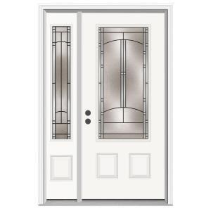 36 in x 80 in idlewild 3 4 lite primed premium steel - Home depot exterior doors 36 x 80 ...