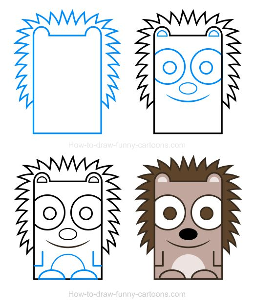 how to draw a cute hedgehog