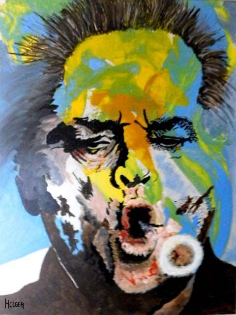 jack Nicholson:  by holger 60x45cm acrylic on canvas