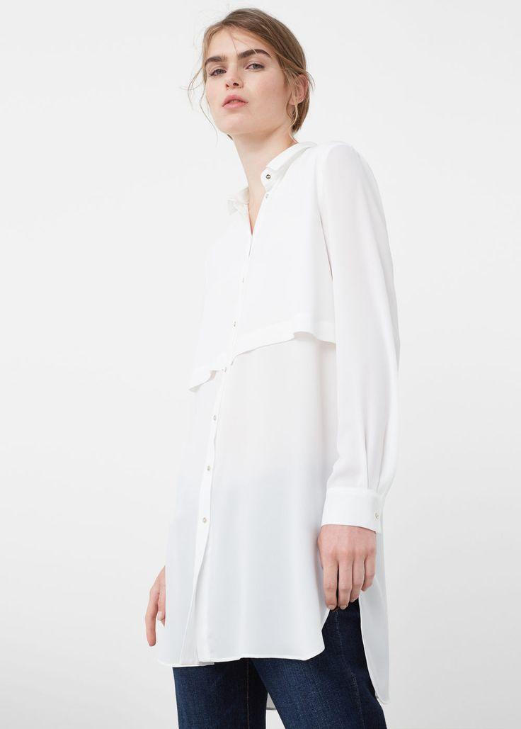 Lange, fließende bluse | MANGO
