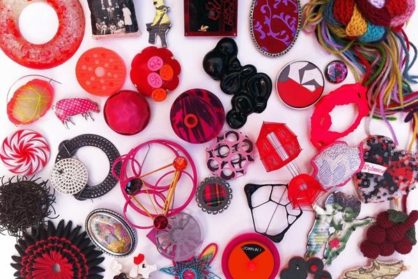 Zoe Robertson's brooch collection