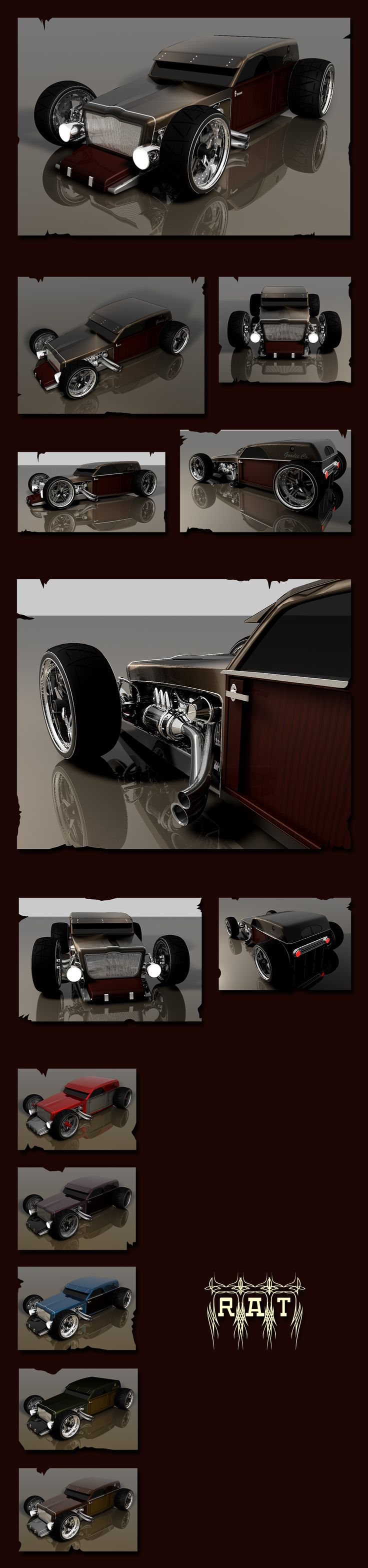 Ideas for my new street rod (More at pinterest.com/gary5mith/ideas-for-my-new-street-rod/)  R.A.T. by LadyDeuce