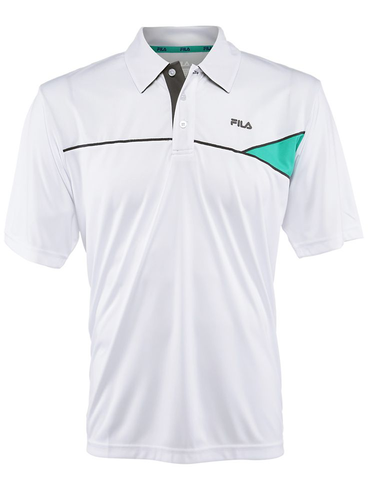 Fila Men's Winter Baseline #Tennis Polo White