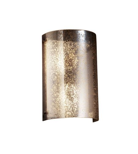 Justice Design FSN-5542-MROR-DBRZ Fusion 2 Light 8 inch Dark Bronze Wall Sconce Wall Light in Mercury Glass photo