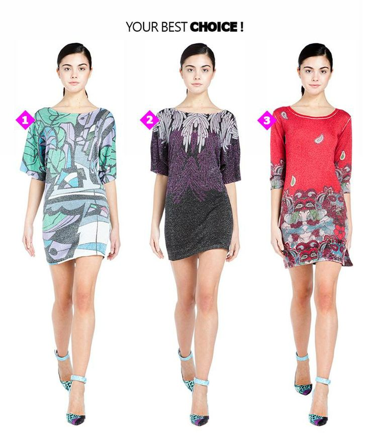 Casual dress time! //   1, 2 o 3: ¿Cuál es tu favorito? // Which is your favourite?  Discover Custo casual dresses ► http://bit.ly/Custo-Dresses