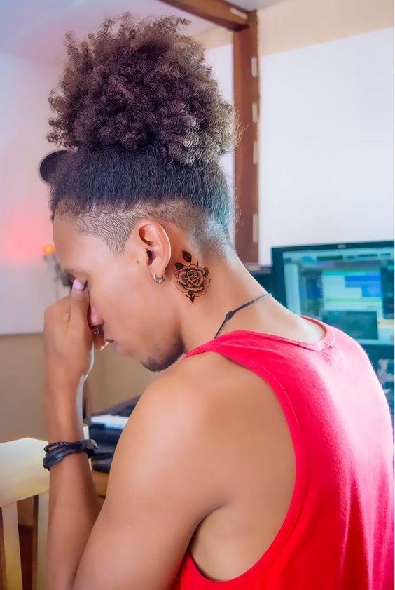 Cabelo Masculino Afro Crespo Amarrado 2018