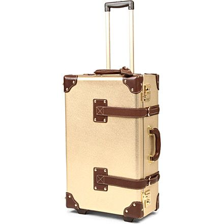 STEAMLINE LUGGAGE The Diplomat stowaway suitcase (Gold/brown