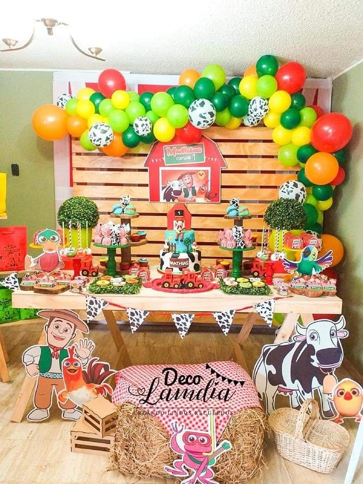 Pin De Ana Pantaleon En Granjita Decoraciones De Fiesta De Granja Cumpleanos De Granja Decoracion Fiestas Infantiles De Granja
