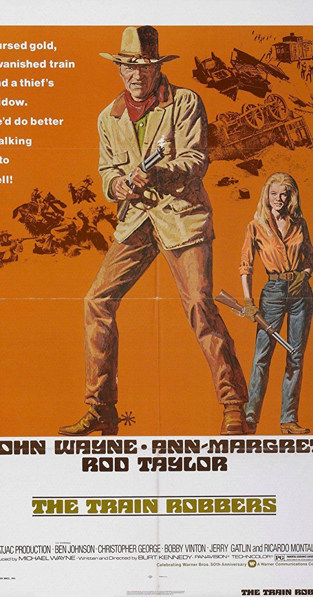 Directed by Burt Kennedy.  With John Wayne, Ann-Margret, Rod Taylor, Ben Johnson. A gunhand named Lane is hired by a widow, Mrs. Lowe, to find gold stolen by her husband so that she may return it and start fresh.