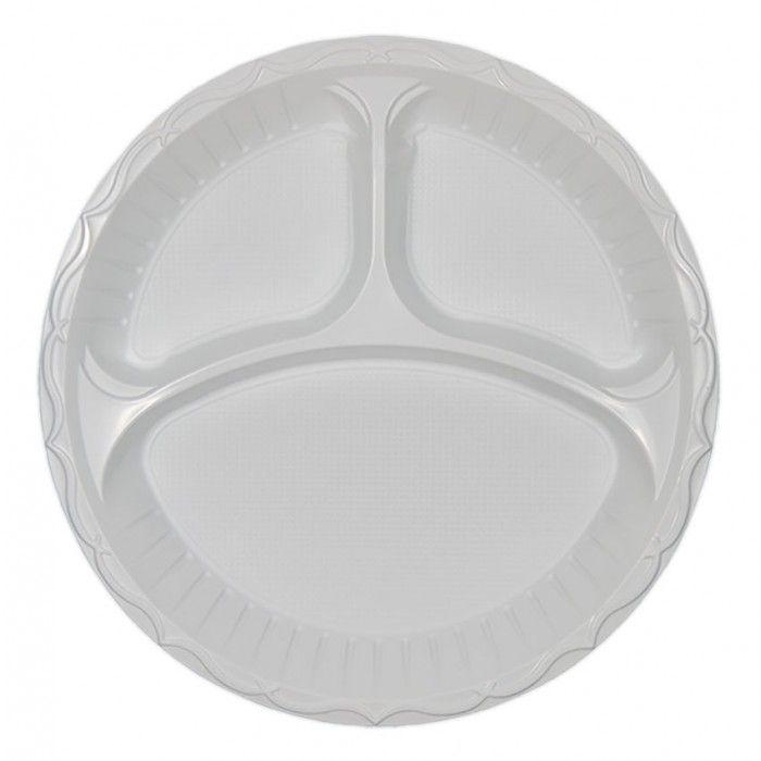 Πιάτο πλαστικό 3 χωρισμάτων 26 cm  | Εφοδιαστική