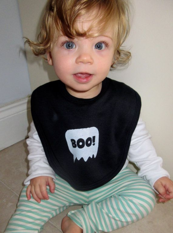 Baby Halloween outfit  'Boo' bib by DollyOliveShop on Etsy