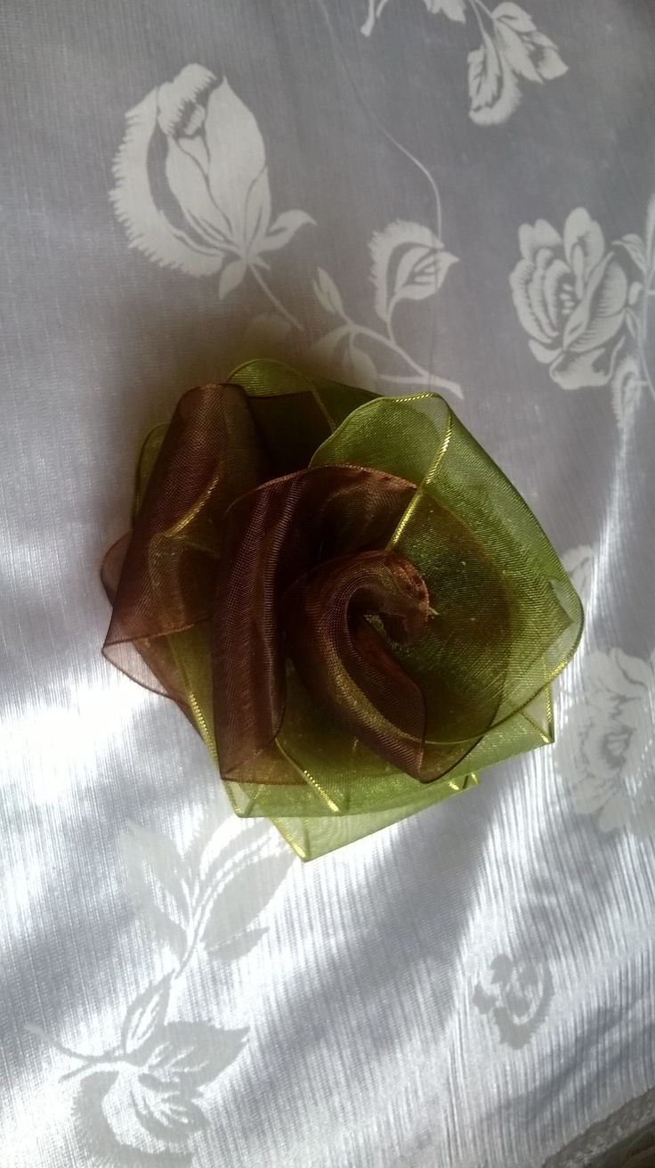 Made this rose flower - green and brown