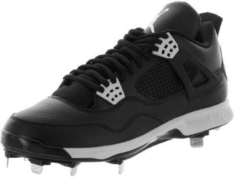 Nike Jordan Men\u0027s Jordan IV Retro Metal Black/Tech Grey Baseball Cleat 8.5  Men US