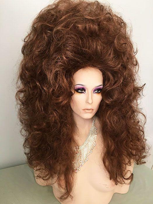 Two wigs made into one Enormous Drag Queen Wig, Drag, Queen, Wig, Medium Auburn,Light Auburn, Dark Auburn, Creamy Blonde, Black, Bright Red