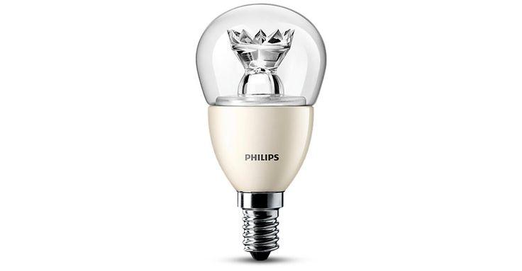 Przezroczyste żarówki LED w kształcie kulki firmy Philips zapewniają wspaniały efekt skrzącego się światła i wyjątkową trwałość. Wyglądają pięknie również wtedy, gdy są wyłączone. Doskonale pasują do dekoracyjnych opraw z małym gwintem (E14). Są równiez energooszczędne.