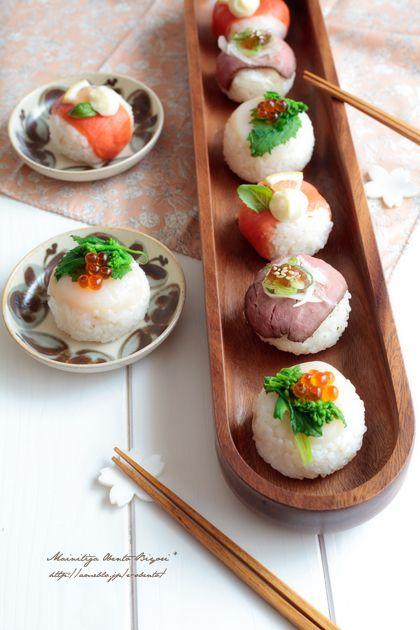 お洒落でかわいい♡ひな祭りのお料理、手まり寿司♡