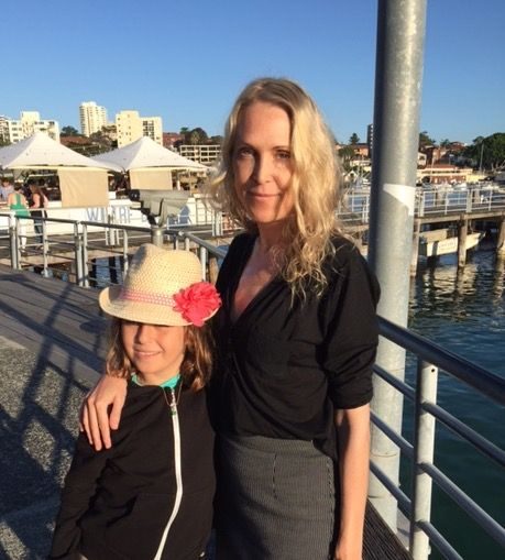 A.C. Efverman with daughter. #swedishauthor #manlybeach #sydney #australia