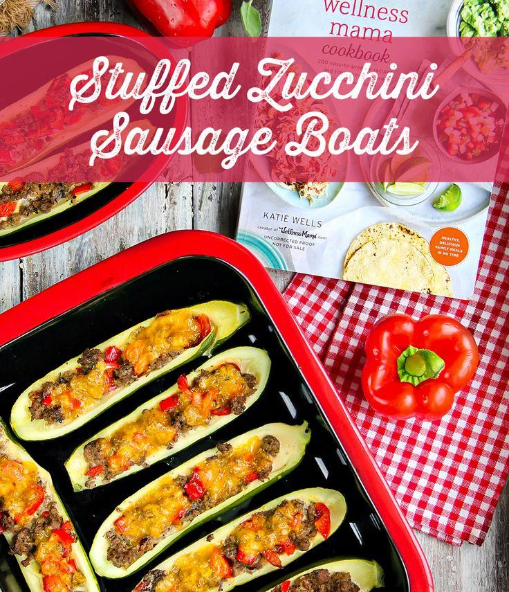 Stuffed Zucchini Sausage Boats