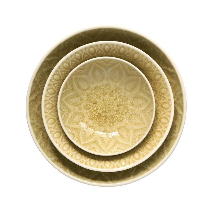 Lemon Embossed Stoneware Bowls - £7.50 - Home Address
