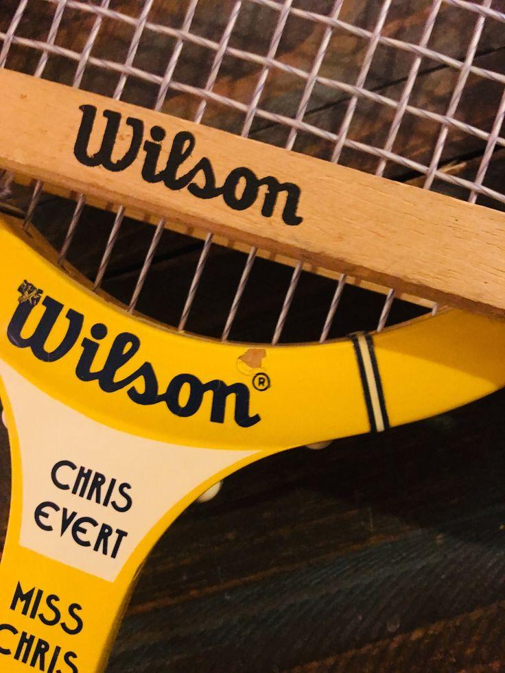 Vintage Chris Evert Miss Chris Wilson Wooden Tennis Racket
