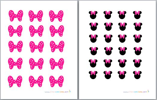 Printable Minnie Mouse | Minnie Mouse Party Printables