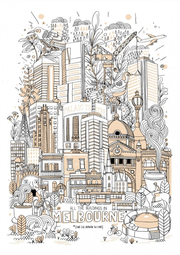 All The Buildings In Melbourne - By James Gulliver Hancock