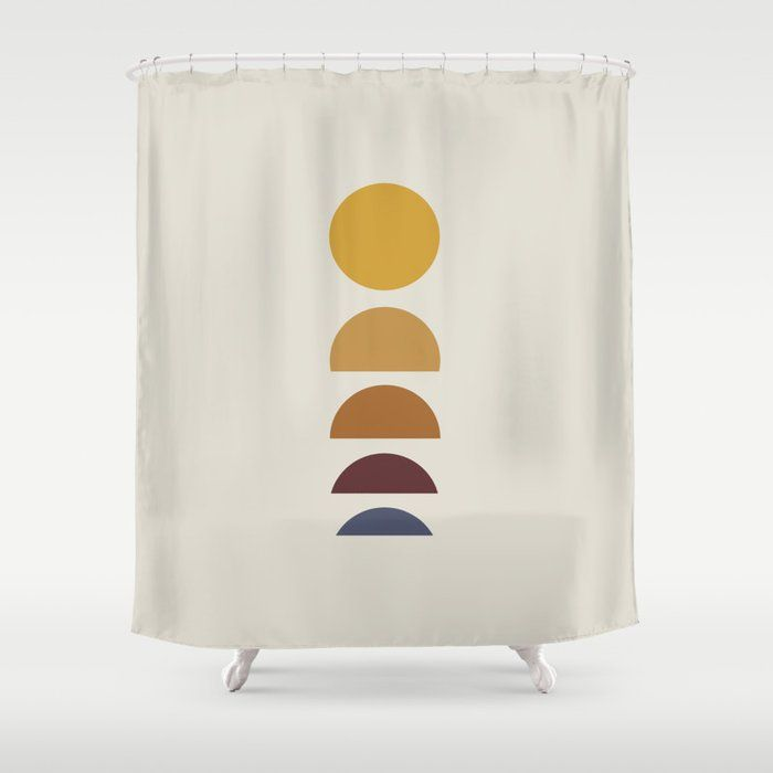 Buy Minimal Sunrise Sunset Shower Curtain By Midcenturymodern Worldwide Shipping Available At Society6 Com In 2020 Curtains Shower Curtain Designer Shower Curtains
