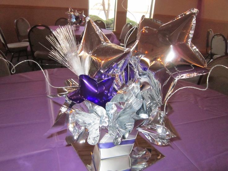 Shining star centerpiece balloons elite balloon decor