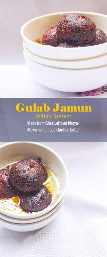 Gulab Jamun-Made with ghee leftiver khoya.