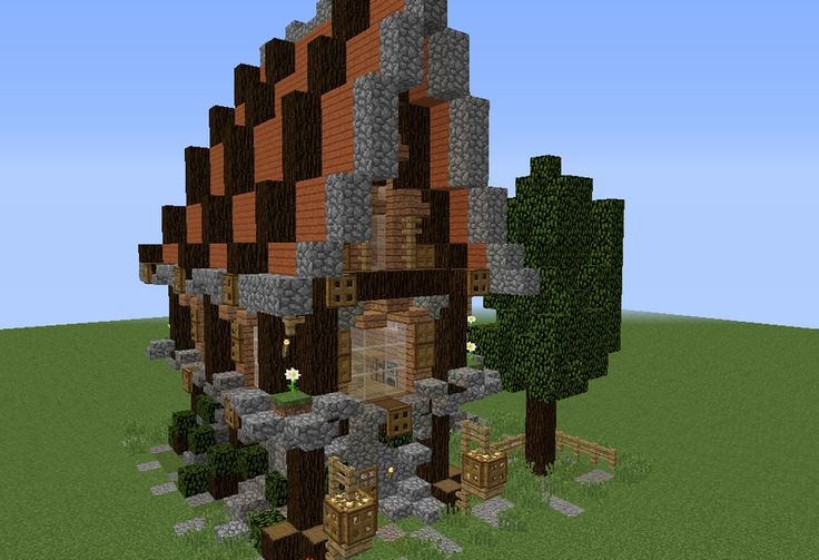 Detailed Medieval Fantasy House - GrabCraft - Your number one source for MineCraft buildings, blueprints, tips, ideas, floorplans!