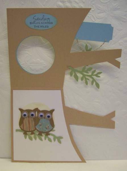 Owls inside the Tree Anniversary -- Inside view by Boss - Cards and Paper Crafts at Splitcoaststampers