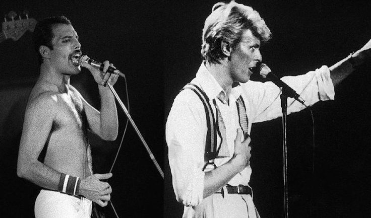 David Bowie and Freddie Mercury, 1981