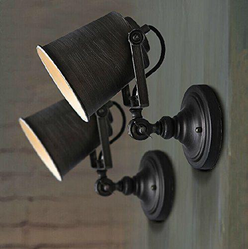 Coquimbo Rustikal Einstellbar Single Licht Industriell Wandleuchte Vorrichtung Lampe Haus Dekor ohne Birne, Schwarz