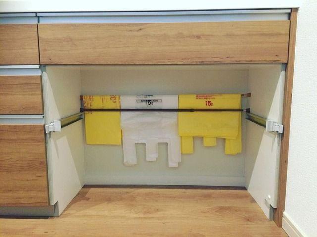 これでキッチン周りスッキリ!「つっぱり棒」を使った台所の収納アイデア4選 - M3Q - 女性のためのキュレーションメディア