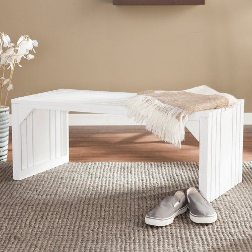 Southern Enterprises Slat Bench/Table - Indoor Benches at Hayneedle