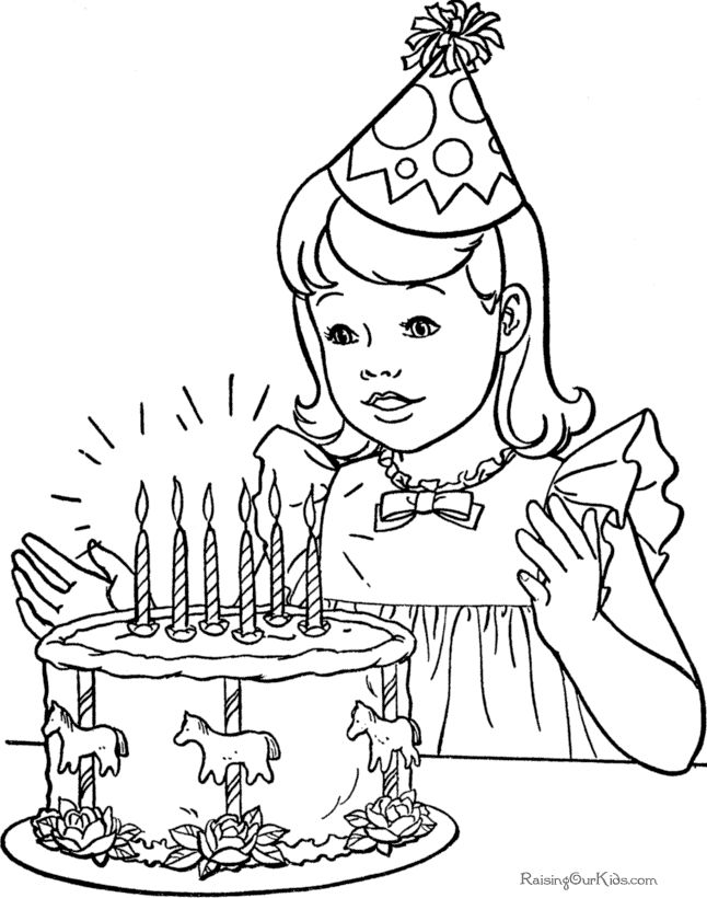 The 25+ best Birthday coloring pages ideas on Pinterest   Happy ...