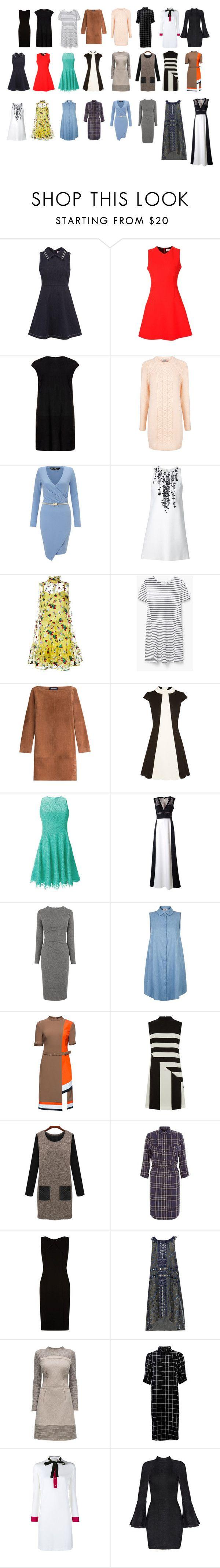 Rectangle Body Shape - Dresses by pennyrdunning on Polyvore featuring Erdem, Victoria Beckham, Vanessa Seward, Gucci, BCBGMAXAZRIA, Sea, New York, BOSS Hugo Boss, Lattori, RED Valentino and MuuBaa