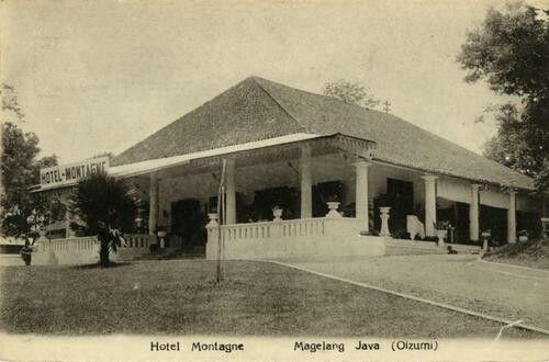 Hotel Montagne te Magelang circa 1910.