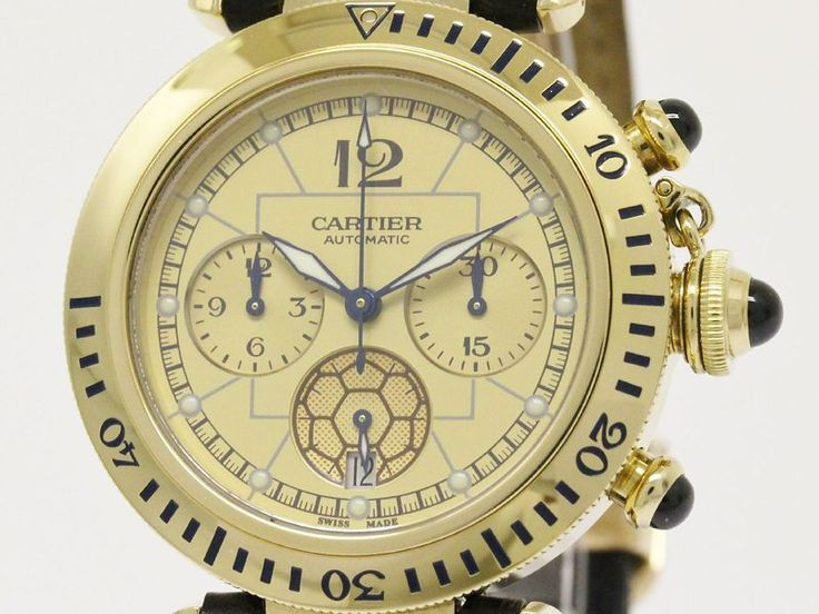 Polished #CARTIER Pasha Chronograph 2002 World Cup LE 18K Gold Watch (BF083719). All of #eLADY's items are inspected carefully by expert authenticators who have years of experience. For more pre-owned luxury brand items, visit http://global.elady.com