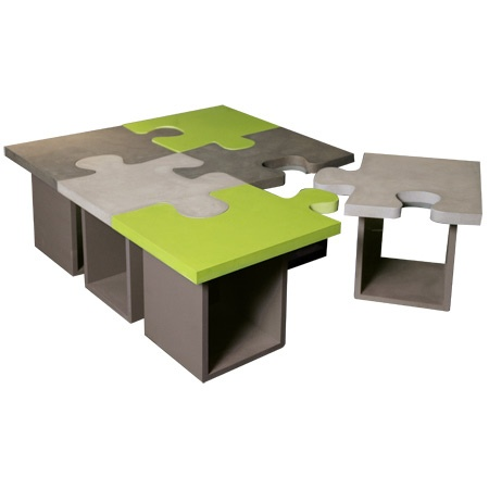 Table basse puzzle b ton maison et d co pinterest - Table basse faite maison ...