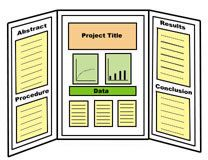 Professional Tri-Fold Poster Board Ideas | an example of a three sided or tri fold display